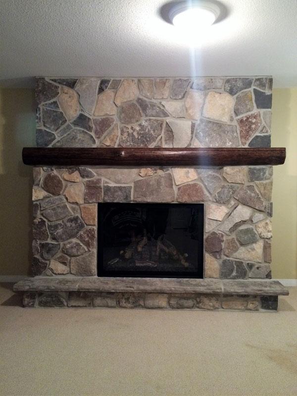 Ontario fieldstone fireplace & Custom Stone Fireplaces - J\u0026J Masonry